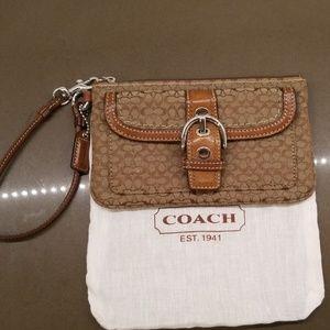 Like New Coach Signature Wristlet